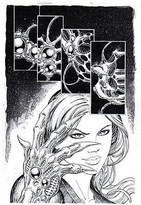Witchblade #91 pg 1 Original comic book Art  by MICHAEL CHOI top cow marvel