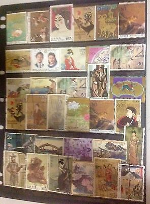 1 page used stamps, large, scans, all different mixture.
