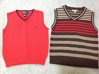 POLO by Ralph Lauren 100% Cotton Vests. AS NEW!!