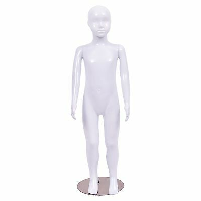 Child Boy Mannequin Dress Form Display Plastic Full Body High Gloss White New