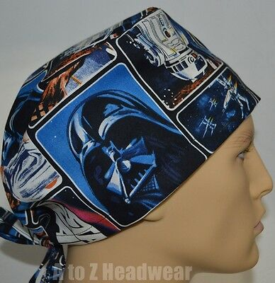 STAR WARS Painted Characters TRADITIONAL Tie Back Unisex Surgical Scrub Hat Cap