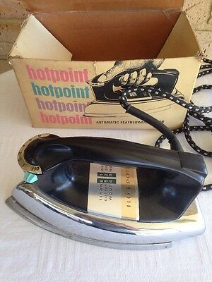 VINTAGE MALLEYS  HOT POINT AUTOMATIC ELECTRIC IRON In Original Box. Australia.