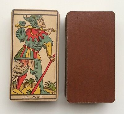 Old Tarot Deck 78 Besancon Cards RARE Grimaud 1898 Paris France Arnoult SUPERB