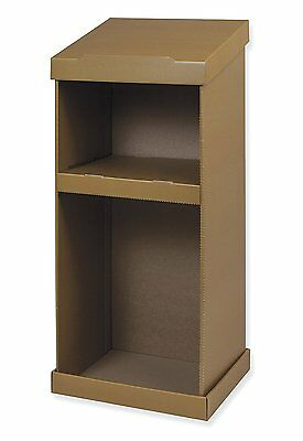 Pacon Corrugated Floor Lectern, Brown