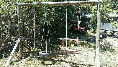 Timber/Wooden Swing Set Playground Equipment