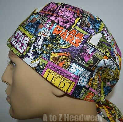 STAR WARS III Comic Collection TRADITIONAL Unisex Surgical Scrub Hat Cap