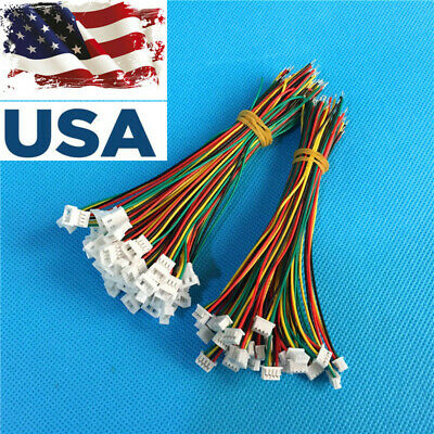 US SHIP 20 Pairs Micro JST 1.25 4-Pin Male&Female Connector plug w/ Wires Cable