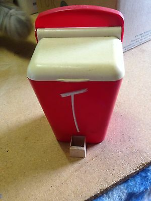 Vintage 50's Gay Ware Tea Caddy, Red & White
