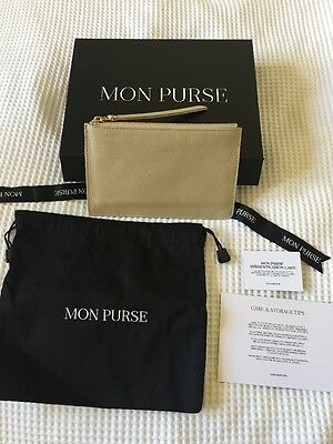 Brand New Mon Purse Leather Clutch