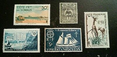 5 x France Stamps