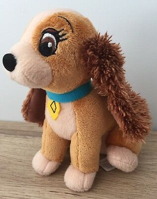 "DISNEY - LADY AND THE TRAMP - 6"" DOG Soft Toy - VGC"