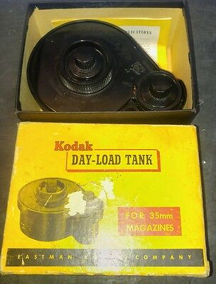 """Vintage Kodak """"Day-Load"""" 35mm Film Processing Tank With Box and Instructions"""