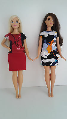 Barbie Doll Curvy clothing set