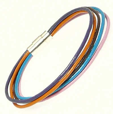 Multi Coloured Leather Strap Bracelet Leather Wristband Surf Surfer