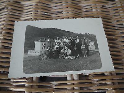 Antique/Vintage group family photograph on Postcard - Foreign, unknown origin