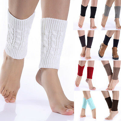 Women Warm Winter Knitted Toppers Boot Socks Crochet Boot Cuffs Shell Leg Warmer