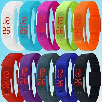 Silicone Women And Men Watches Digital Touch LED Wristwatch Sport Waterproof