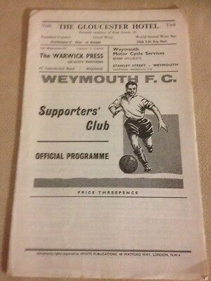 Weymouth v Chelmsford  Southern League 9/12/61