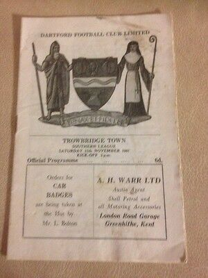 Dartford  v Trowbridge Southern league  11/11/67