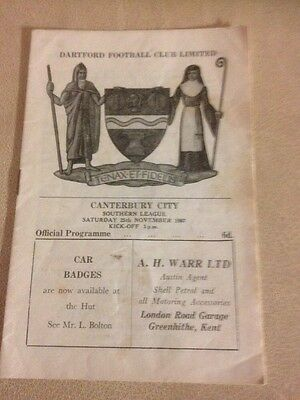 Dartford  v Canterbury Town  Southern League 25/11/67