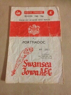 Swnasea Town v Porthmadoc welsh cup quarter final replay 22/2/66