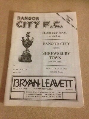 Bangor City v Shrewsbury Town Welsh Cup Final 2nd leg 19/5/85