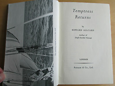 Vintage 1952 Temptress Returns Edward Allcard 1St Sailing Atlantic From New York