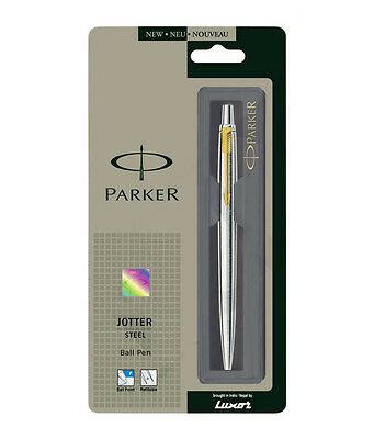 Parker Jotter Stainless Steel Gt Retractable Ball Point Pen With Free Shipping