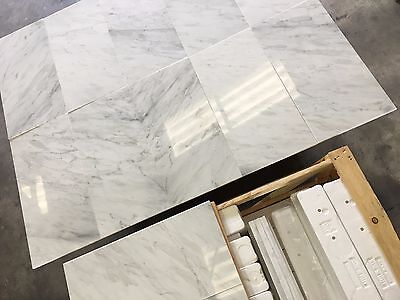 Marble Tiles, Bianco Select White Marble Floor & Wall Tile, 305x610x10mm 15m2LOT