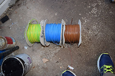 Tri-rated  Conduit Cable 0.75mm² 20AWG 15Amp  earth Brown Blue 60 meters approx