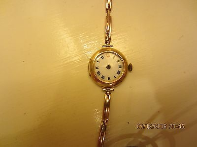 9ct Rose gold Swiss Antique watch - not working