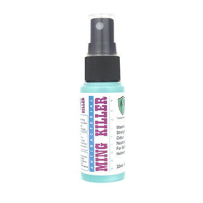 Helmet Odour Freshener Spray Strong Kills Ming & Smells Fast Dry Antibacterial