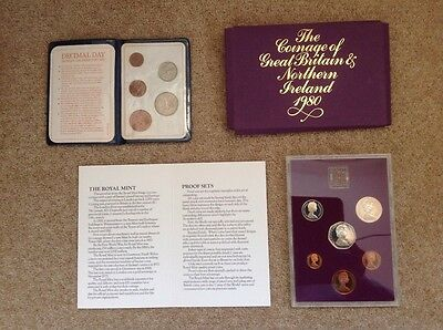 The coinage GB 1980 & Decimal Day 1971