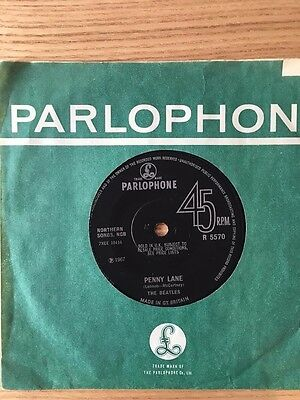 """The Beatles 45 rpm record - """"Penny Lane"""" & """"Strawberry Fields Forever"""""""