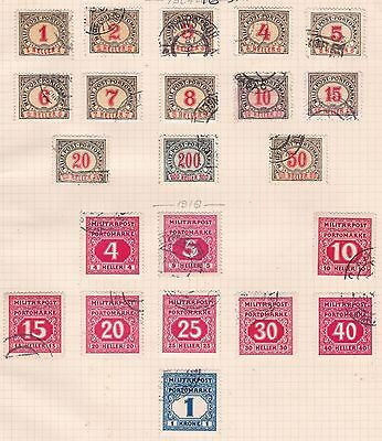 Bosnia  1904 - 16   3Pages   Postage Dues + Imperf To 6   Mh & Used