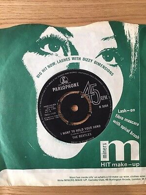 """The Beatles 45 rpm record - """"I Want To Hold Your Hand"""""""
