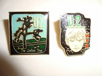 U2 Job Lot 2 x Small Enamel Stud Fastening Badges