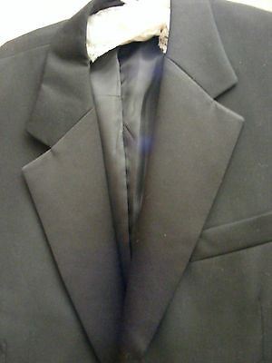 "Designer Collection Black Single Breasted Dinner Suit Jacket 46""chest,length 32"""