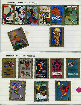 Paraguay World Cup 16 Stamps