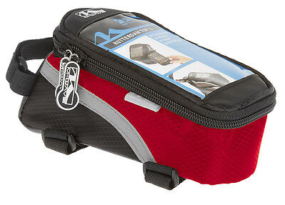M-Wave Bicycle Cycle All Weather Water Repellant Reflective Top Tube Bag -Red