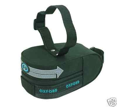 Oxford Bicycle Cycle Bike Luggage Wedge Seat Bag - Velcro Strap 2 Litre