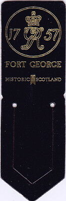 Leather Bookmark - Fort George 1757, Scotland.