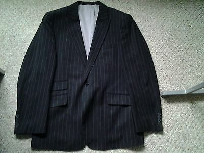 Taylor & Wright Charcoal With Grey Pinstripe Mens Suit