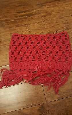 girls cowl scarf red age 5/6