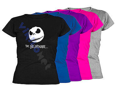 Camiseta The Nightmare Before Christmas XXL- XL- L- M S Sizes Film T-Shirt Mujer