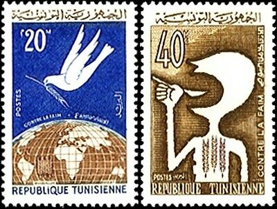 Freedom From Hunger - Stamps From Tunisia