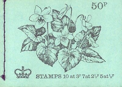 Complete Booklet 50p Flowers Cover Great Britain #BK143