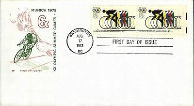 Olympic Bicycling FDC # 1460Farnam Cachet