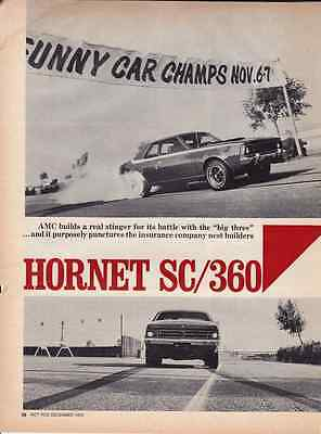 1971 Amc Hornet Sc/360  ~  Original 4-Page Article / Ad