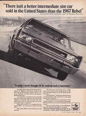 1967 Amc Rebel Sst 343 4-Bbl Typhoon V-8  ~  Great Muscle Car Ad